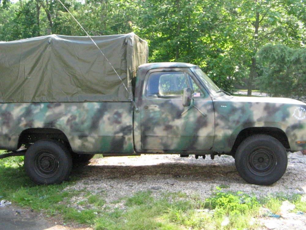 1977 Dodge Pick Up Camo Stock 00021 For Sale Near New