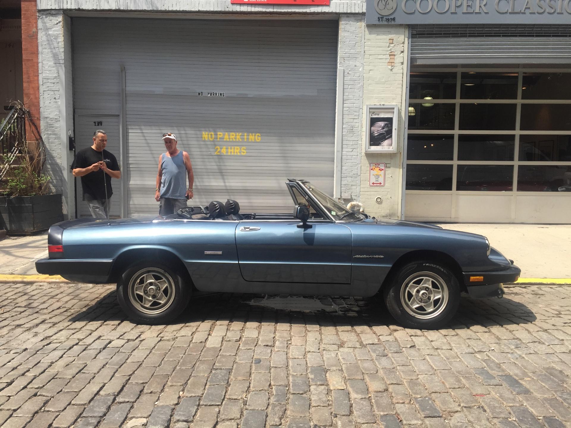 1989 Alfa Romeo Spider Stock Bluespider For Sale Near New York Ny Used